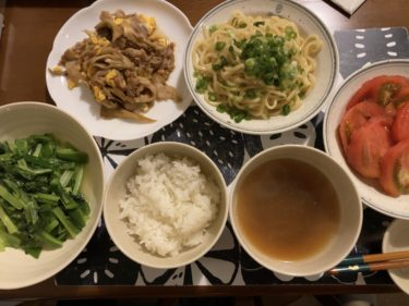 深夜の晩ご飯作り(1人500円メニュー)