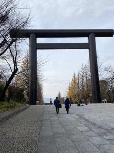 靖国神社に来ています。日本有数のパワースポット!(12月19日空いてます)